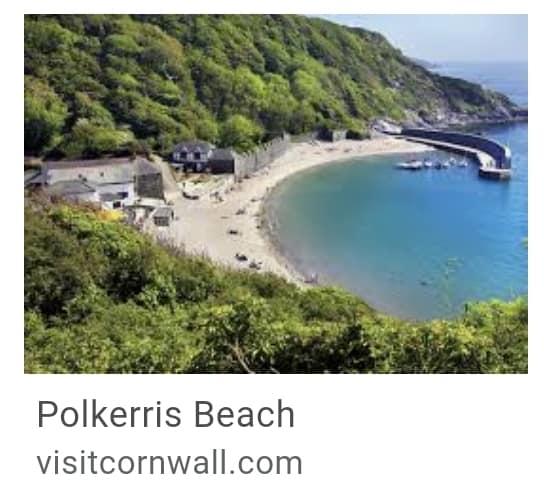 25. Polkerris Beach Cornwall